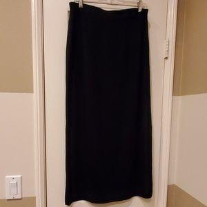 Misook long black skirt. Size L.